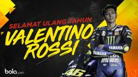 Ulang tahun Valentino Rossi ke-40. (Bola.com/Dody Iryawan)