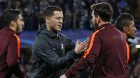 Gelandang Chelsea, Eden Hazard, mengaku kagum dengan sosok Lionel Messi. (AFP/Ian Kington)