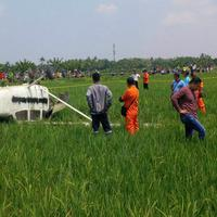 Pesawat Latih Cessna 172 PK WTK yang jatuh di area persawahan Desa Banjar Wangunan, Mundu, Cirebon, masih dalam proses penyelidikan polisi.