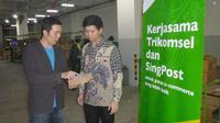 Perjanjian kerjasama Trikomsel dengan SingPost
