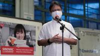 Di Bandar Udara Internasional Soekarno Hatta, Tangerang, Banten, Minggu, 18 April 2021, Menteri Kesehatan RI Budi Gunadi Sadikin mengatakan 59,5 juta bulk vaksin Sinovac akan diproduksi PT Bio Farma. (Dok Kementerian Kesehatan RI)