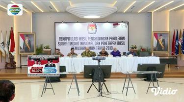 KPU gelar rapat pleno rekapitulasi hasil suara Pemilu 2019 untuk tiga provinsi, yaitu Kalimantan Utara, Kalimantan Tengah, dan Gorontalo.