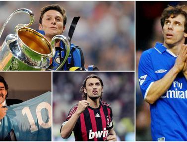 Nomor Punggung Dipensiunkan, Diego Maradonna, Javier Zanetti
