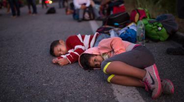 Ribuan Imigran Amerika Tengah Tujuan AS Banjiri Jalanan Meksiko