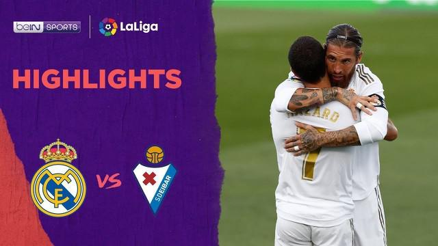 Berita video highlights La Liga 2019-2020 antara Real Madrid melawan Eibar yang berakhir dengan skor 3-1, Senin (15/6/2020) dini hari WIB.