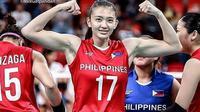 Pemain Bola Voli Timnas Filipina Maddie Madayag. (foto: instagram.com/mixgatpandan)