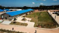 Kementerian PUPR telah menyelesaikan pembangunan fasilitas observasi, penampungan, dan karantina untuk pengendalian infeksi penyakit menular, utamanya virus Corona Pulau Galang, Kepulauan Riau. (Dok Kementerian PUPR)