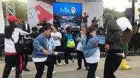 Asian Para Games 2018 diwarnai oleh aksi penari down syndrome di zona inspirasi (Liputan6.com/Ahmad Fawwaz Usman)