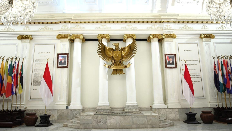 Panggung kecil di Gedung Pancasila, yang digunakan Bung Karno menyampaikan gagasan Pancasila (Liputan6.com/Mochamad Khadafi)