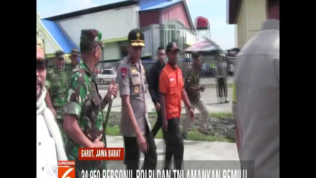 Untuk pengamanan pemilu, Polda Jawa Barat akan menerjunkan 24.500 personel yang dibantu anggota TNI sebanyak 10.450.