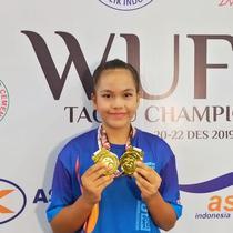 Atlet wushu asal Lampung, Jasmine salah satu yang sukses di Wushu Festival garapan PB WI dan Siwo PWI Pusat (istimewa)
