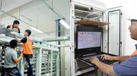 Proses pengerjaan implementasi teknologi anak bangsa milik PT Len Industri, Bandung dalam pembangunan DDT (double-double track) Jalur Manggarai-Cikarang. (Sumber: Istimewa)