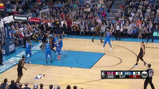 Berita video game recap NBA 2017-2018 antara Cleveland Cavaliers melawan Oklahoma City Thunder dengan skor 120-112.