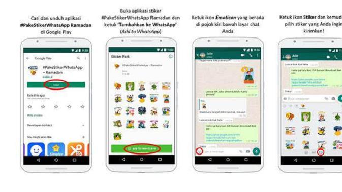 Stiker WhatsApp edisi spesial Ramadan (Foto: WhatsApp)
