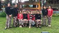 Ahmad Dhani dan Mulan Jameela berkumpul bersama Al, El dan Dul di acara tedak siten putra bungsu mereka, Ahmad Syailendra Airlangga.