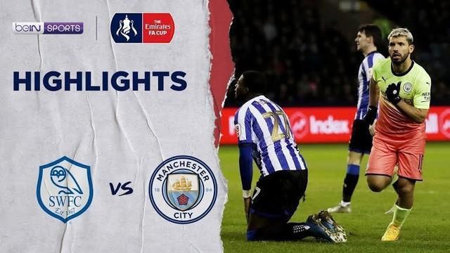 Berita Video Gol Tunggal Aguero Bawa Manchester City Menang Atas Sheffield Wednesday 1-0