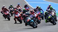 Fabio Quartararo memimpin balapan MotoGP Andalusia, 26 Juli. (JAVIER SORIANO / AFP)