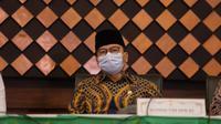 Ketua Komisi VIII DPR RI Yandri Susanto dalam konferensi pembatalan pemberangkatan haji 2021 di Kementerian Agama. (dokumentasi Kemenag)