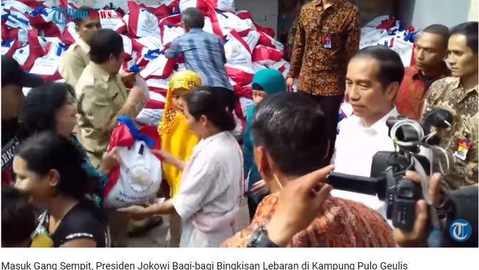 [Cek Fakta] Benarkah Jokowi Bagi-Bagi Sembako?