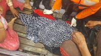 Jasad seorang wanita 66 tahun, warga Kabupaten Tebo ditemukan tak utuh usai diserang buaya di sungai Batanghari. (Foto: Dok Polres Tebo/B Santoso)