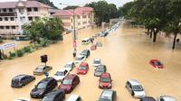Banjir melanda Penang, Malaysia pasca-hujan deras yang mengguyur Kamis 14 September 2017 (The Malay Online/KE Ooi)