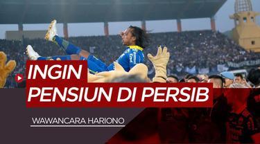 Berita Video wawancara singkat dengan Hariono, ingin kembali dan pensiun di Persib