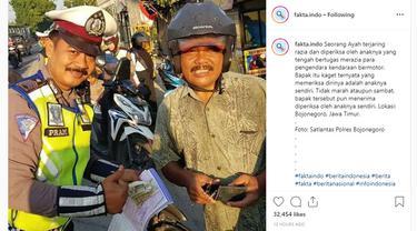 Salah satu contoh nyata diberikan petugas kepolisian asal Bojonegoro, Jawa Timur.