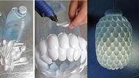Tempat lampu dari sendok plastik  (sumber. brightside.me)