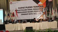 Rapat Pleno rekapitulasi suara di KPU Kota Malang (Merdeka.com)