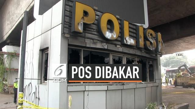 Aksi unjuk rasa Selasa (24/9/2019) malam diwarnai insiden pembakaran pos polisi di kawasan Slipi Jakarta Barat. Sejumlah tersangka diperiksa di Mapolres Jakarta Barat.