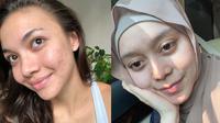 Seleb Indonesia Ini Tak Segan Unggah Foto Tanpa Makeup. (Sumber: Instagram.com/angelagilsha dan Instagram.com/lestykejora)
