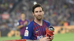 1. Lionel Messi (Barcelona) - 25 gol dan 11 assist (AFP/Lluis Gene)