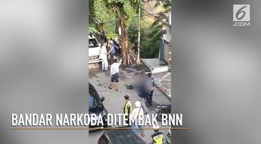 Seorang pria yang diduga bandar Narkoba, ditembak oleh petugas BNN di dekat sekolah Prime One School, Medan.