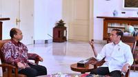 Sutopo Purwo Nugroho bertemu Presiden Jokowi di Istana Kepresidenan Bogor pada Oktober 2018. (Twitter Kantor Staf Presiden/KSP)