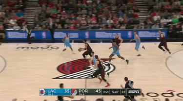 Berita video game recap NBA 2017-2018 antara Portland Trail Blazers melawan LA Clippers dengan skor 105-96.