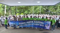 Sebanyak 2.628 pemudik diberangkatkan Bukit Asam melalui program Mudik Bareng BUMN 2019 yang diinisiasi oleh Kementerian BUMN.