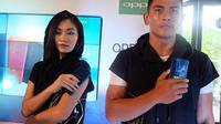 Peluncuran Oppo F5 Dashing Blue di Bali, Kamis (8/2/2018). Liputan6.com/ Andina Librianty