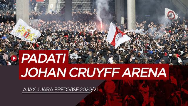 Berita video perayaan gelar juara Eredivise ke-35 Ajax Amsterdam di Johan Cruyff Arena, Minggu (2/5/21)