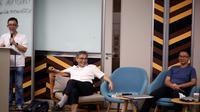 Budiman Sudjatmiko dalam acara Big Questions Forum Inovator 4.0 Indonesia 'Kecerdasan Buatan dan Biopolitik; Membangun Masyarakat Kebal Semburan Dusta' di Jakarta. (Istimewa)