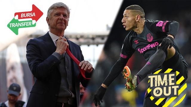 Berita Video Time Out yang membahas tentang keinginan Arsene Wenger melatih dan Richarlison yang menjadi rebutan Manchester United dan Barcelona.