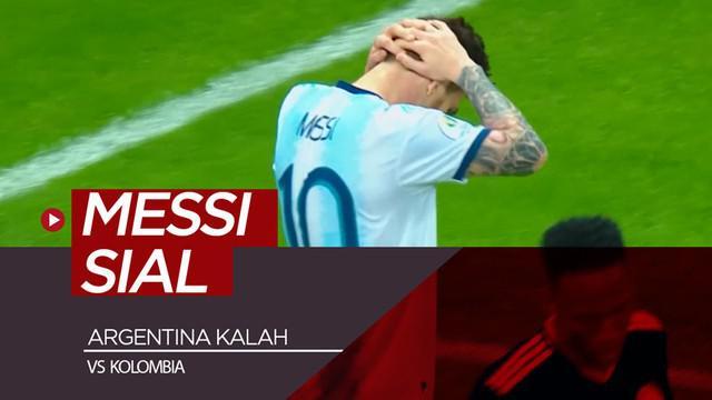 Berita video momen Lionel Messi sial saat Argentina kalah 0-2 dari Kolombia pada laga pertamanya di Copa America 2019, Sabtu (15/6/2019).
