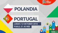 UEFA Nations League Polandia Vs Portugal (Bola.com/Adreanus Titus)