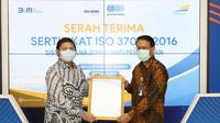 PT Kereta Api Indonesia (Persero)atau KAI  memperoleh Sertifikat ISO 37001:2016 (dok: KAI)