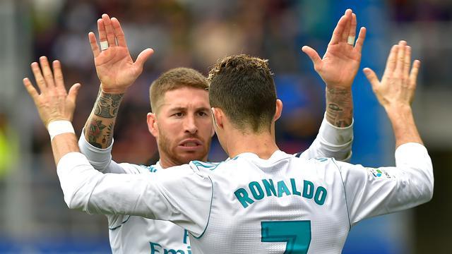 Gaya Ronaldo Saat Cetak Dua Gol ke Gawang Eibar