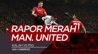 Berita video rapor para pemain Manchester United saat kalah 0-2 pada leg I 16 Besar Liga Champions 2018-2019, Selasa (12/2/2019).