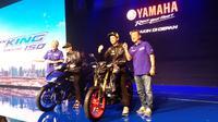 Yamaha Indonesia secara resmi melakukan peluncuran dua produk anyar mereka, yakni MT-15 dan New MX-King kepada publik Senin (4/2/19). (Dian/Liputan6.com)