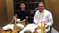 (ki-ka): Pavel Durov, founder dan CEO Telegram bertemu Menkominfo Rudiantara di Jakarta, Selasa (1/8/2017). (Doc: Istimewa)