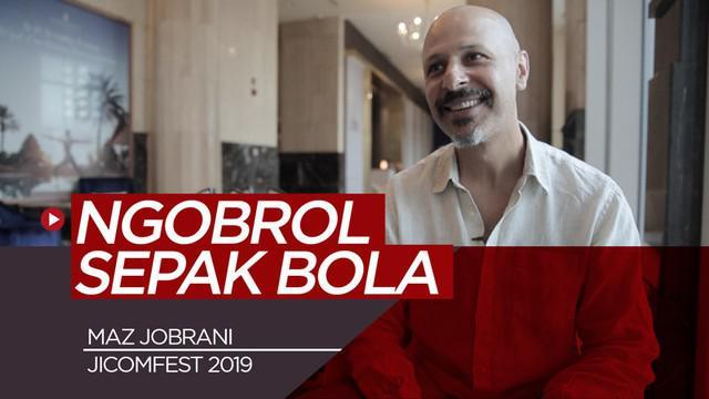 Berita video wawancara komedian asal Amerika Serikat di JICOMFEST 2019, Maz Jobrani, membahas sepak bola dunia, mulai dari Lionel Messi hingga pemain-pemain timnas Iran.