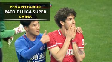 Alexandre Pato gagal membawa timnya, Tianjin Quanjian unggul atas Shanghai Shenhua karena penalti buruknya