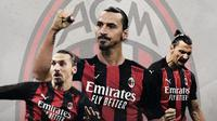 Penyerang AC Milan: Zlatan Ibrahimovic. (Bola.com/Dody Iryawan)